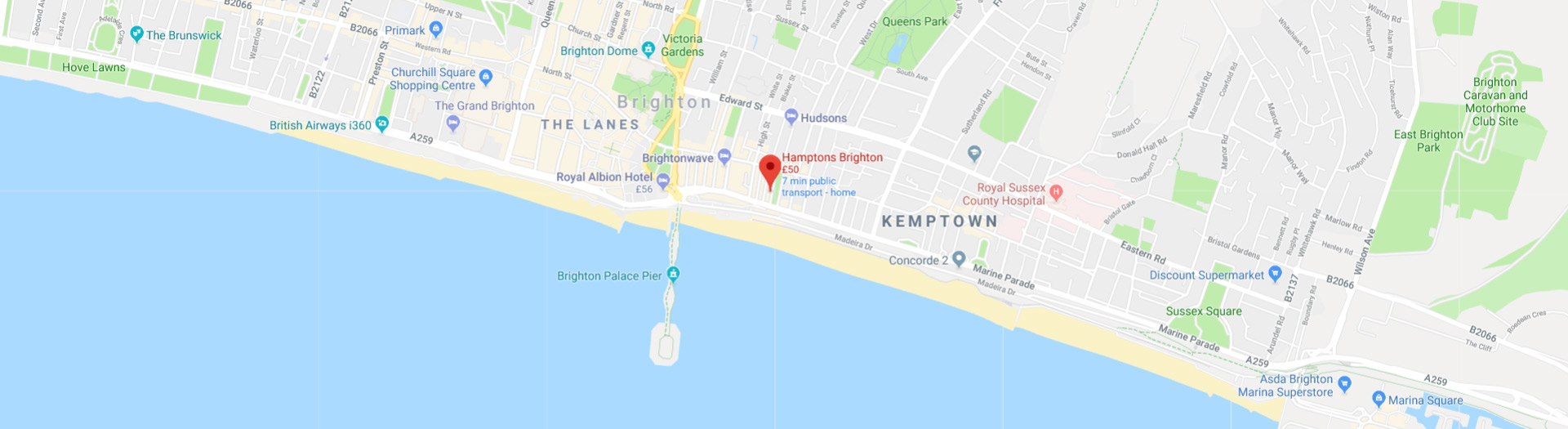 hamptons location map