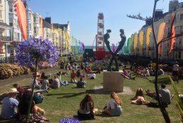 Villag fayre in New Steine Gardens Brighton